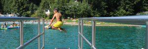 Waldfreibad Herpine_Sprung ins Wasser